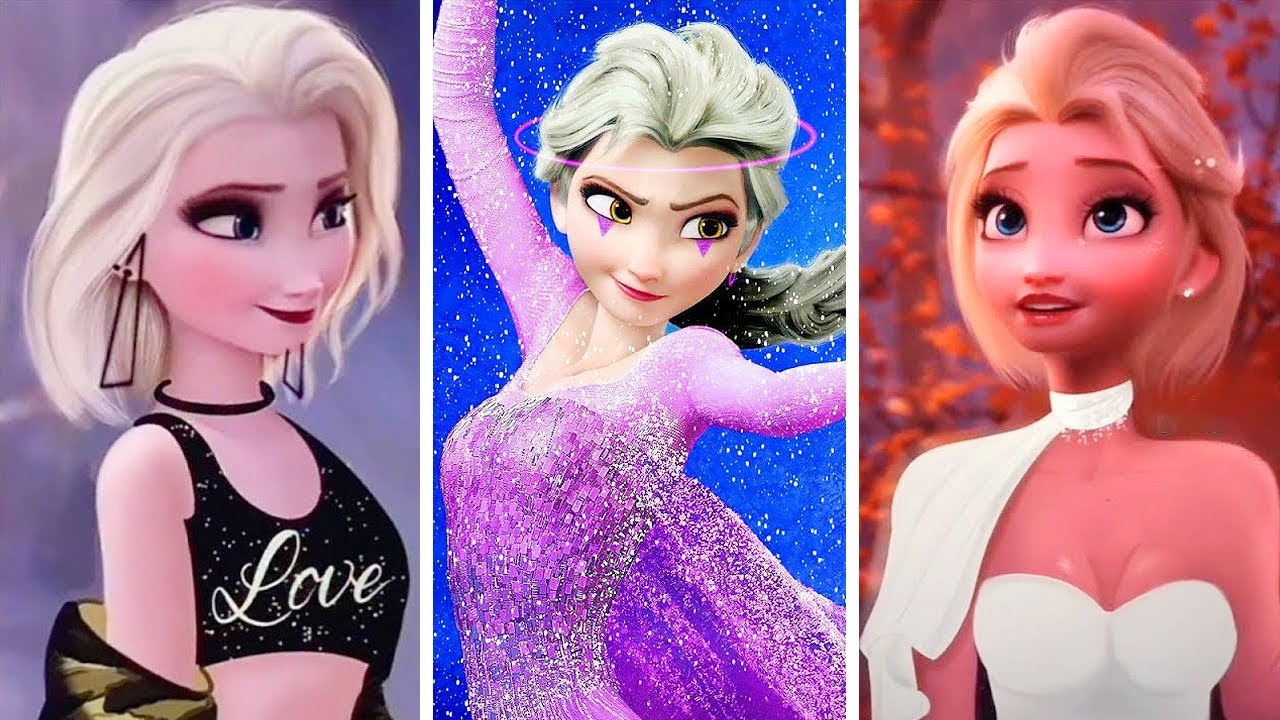 Elsa Frozen Disney Princesses GLOW UP Transformation GLOW UP #2