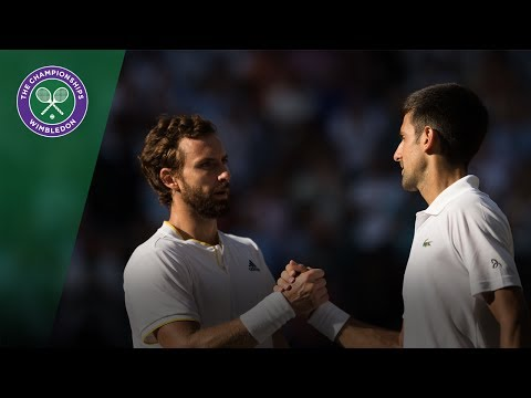 Novak Djokovic v Ernests Gulbis highlights - Wimbledon 2017