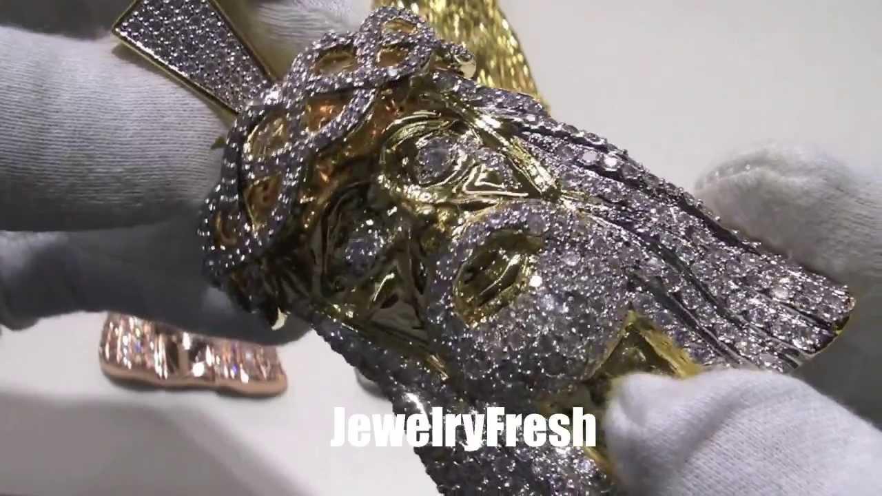 Custom 3d Jesus Piece Top Quality Vvs Lab Diamonds 5