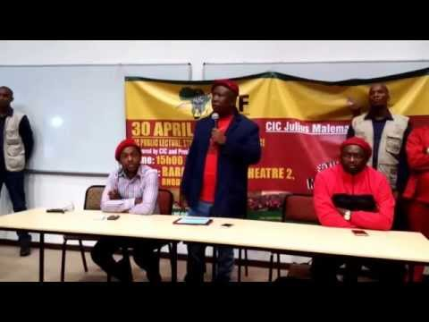Malema Public lecture at Rhodes University