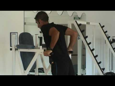 Dips sur chaise romaine youtube for Chaise romaine