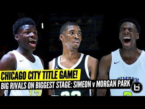 Chicago's BIGGEST RIVALS Meet In Public League Title Game! Bynum Vs Ace Wolf! Simeon Vs Morgan Park!
