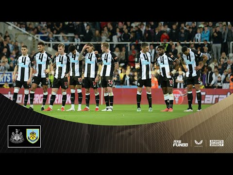 Newcastle United 0 Burnley 0 (Burnley win 4-3 on penalties)    The highlights of the Carabao Cup