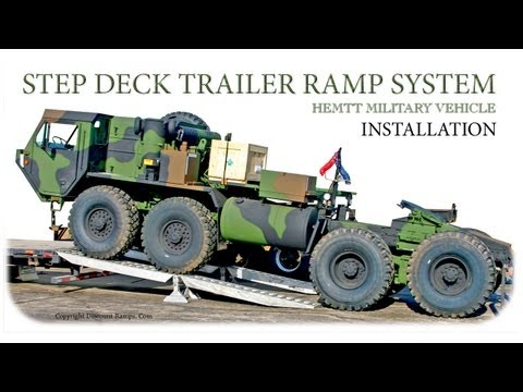 Step Deck Trailer Ramp System - Installation
