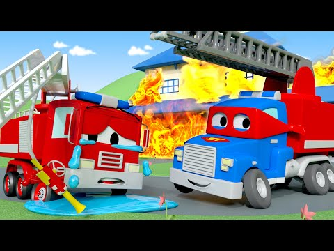 Carl The Firetruck  - Carl o Super Caminhão na Cidade do Carro  Desenho animado para crianças
