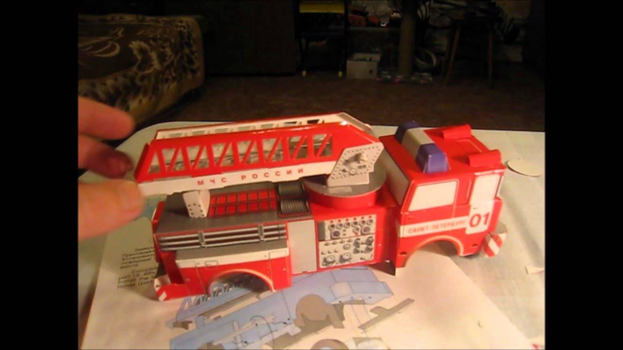 Пожарная машина сделать своими руками 836