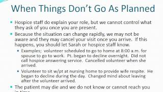 Visiting Nurses Hospice Training - Families