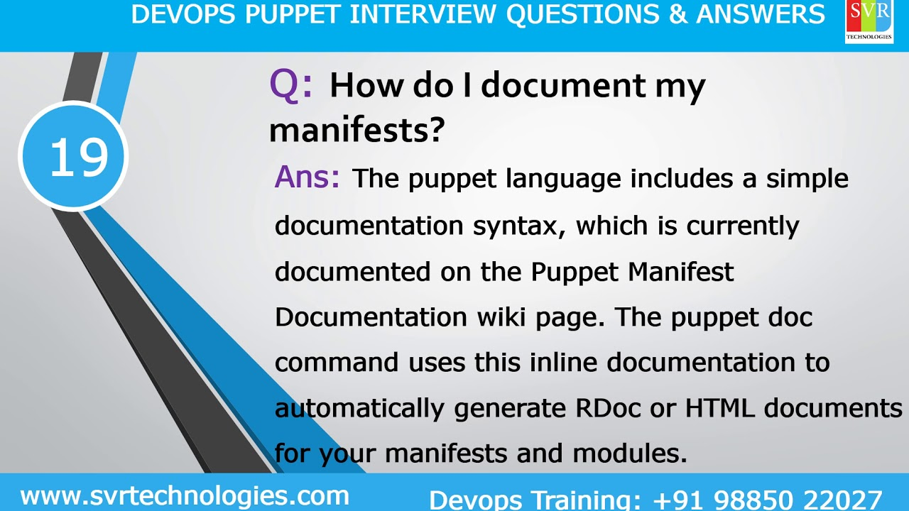 Puppet Interview Questions || Top 30 Puppet Interview Questions || Latest  Updated For Experienced
