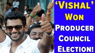 Vishal Won Producer Council Election!