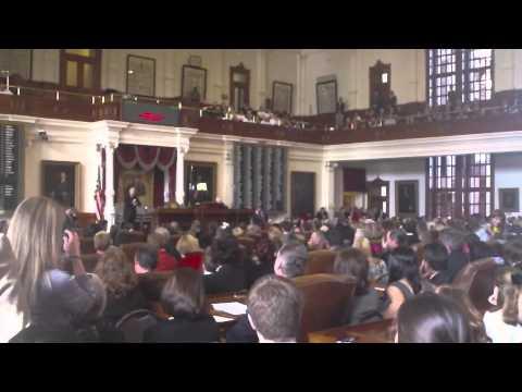 Texas Secretary of State Hope Andrade Opens 82nd Legislative Session