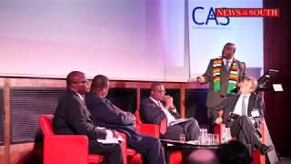 Minister of Mines Hon Winston Chitando at Zimbdaba Investment Conference London 2018