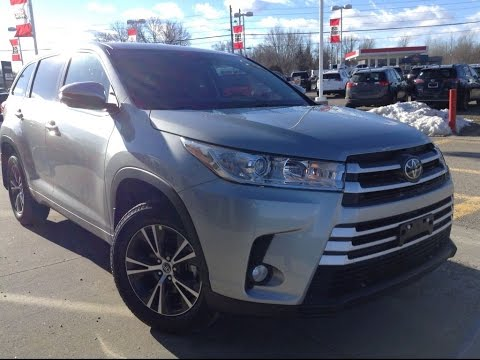 New 2017 Toyota Highlander Le Awd Convenience Package Review Silver 1000 Islands Brockville