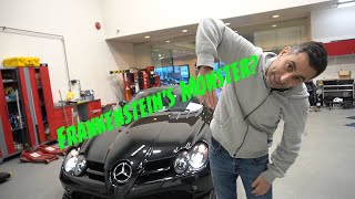 The Frankenstein they call the Mercedes McLaren SLR! * Showroom Megacar Shuffle* Shop Talk!