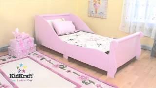Kidkraft Pink Sleigh Toddler Cot