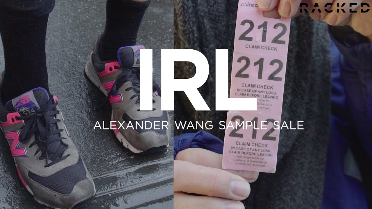 Alexander Wang Sample Sale Street Style | Racked - YouTube
