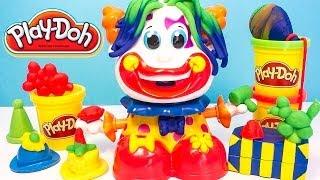 Play Doh Clown Playset Playdough Funny Clown Plastilina Plasticine Hasbro Toys