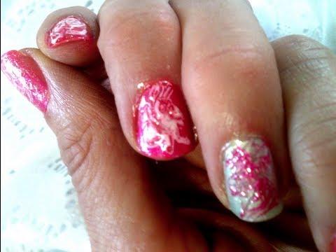 easy diy nail tutorial  with safe polish firecracker