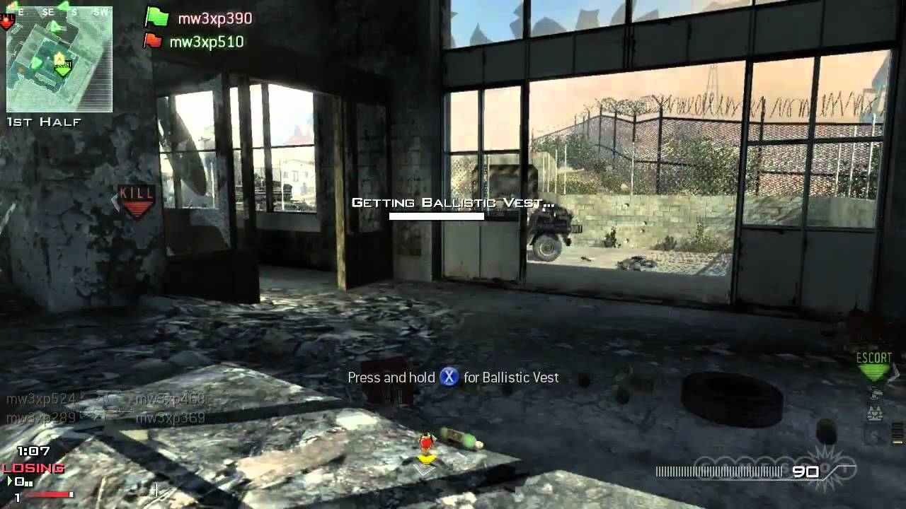 Call Of Duty Modern Warfare 3 Multiplayer Ctf Xbox 360 Youtube