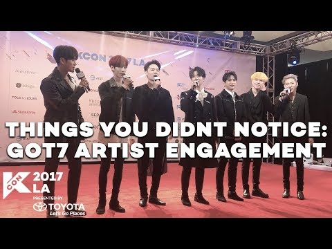 [#KCON17LA] THINGS YOU DIDN'T NOTICE: GOT7'S ARTIST ENGAGEMENT