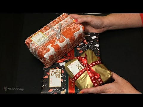Wrapping Last Minute Christmas Presents ASMR (no talking)