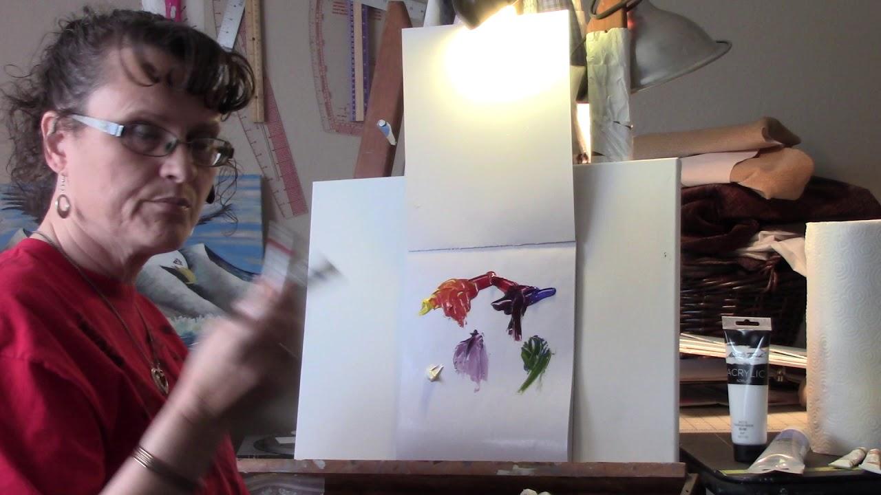 Art Class 101 - Creating an Acrylic Pallet