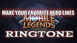 Mobile Legends Hero Voices Ringtone