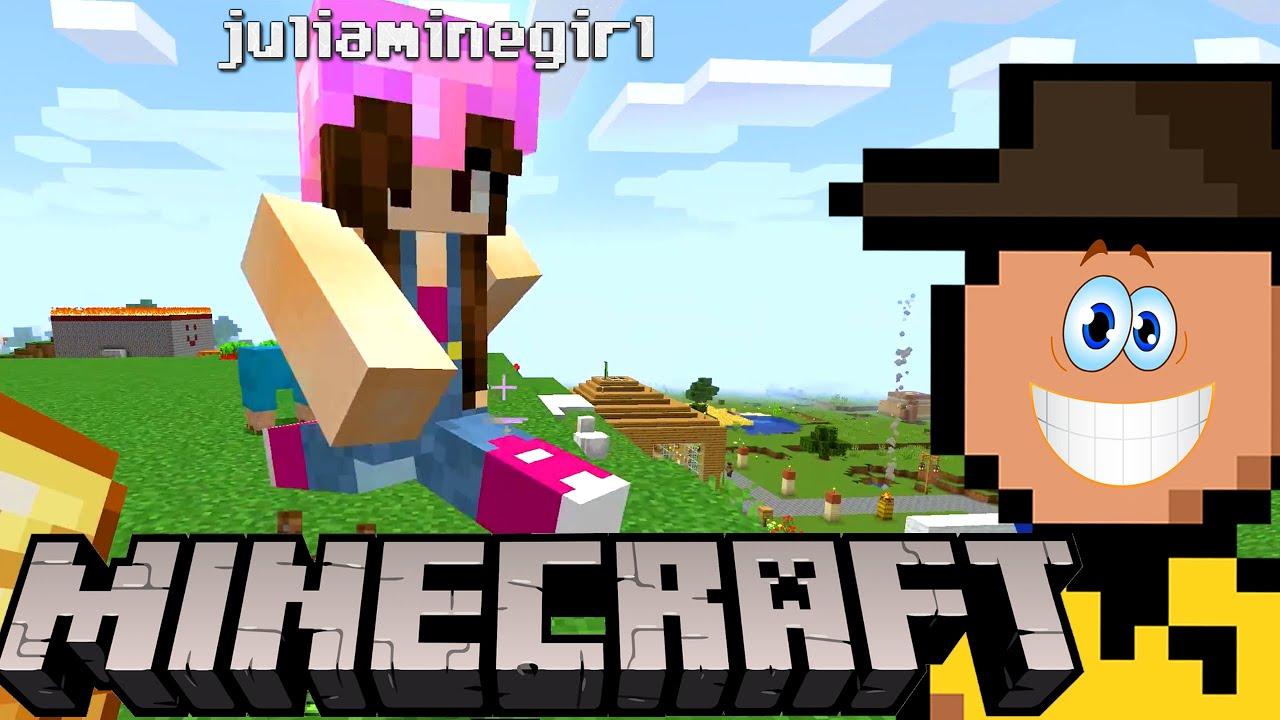 a JU MINEGIRL construiu uma CASA NOVA pra mim! (Minecraft Zero Mortes • E38)