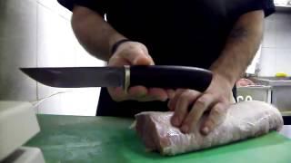 Нож в работе. Производитель