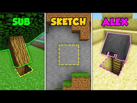 SUB vs SKETCH vs ALEX - SECRETS in Minecraft! (The Pals)