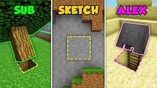 Baixar SUB vs SKETCH vs ALEX - SECRETS in Minecraft! (The Pals)