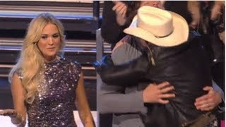 Carrie Underwood Jealous of Mike Fisher and Brad Paisley at CMT Music Awards