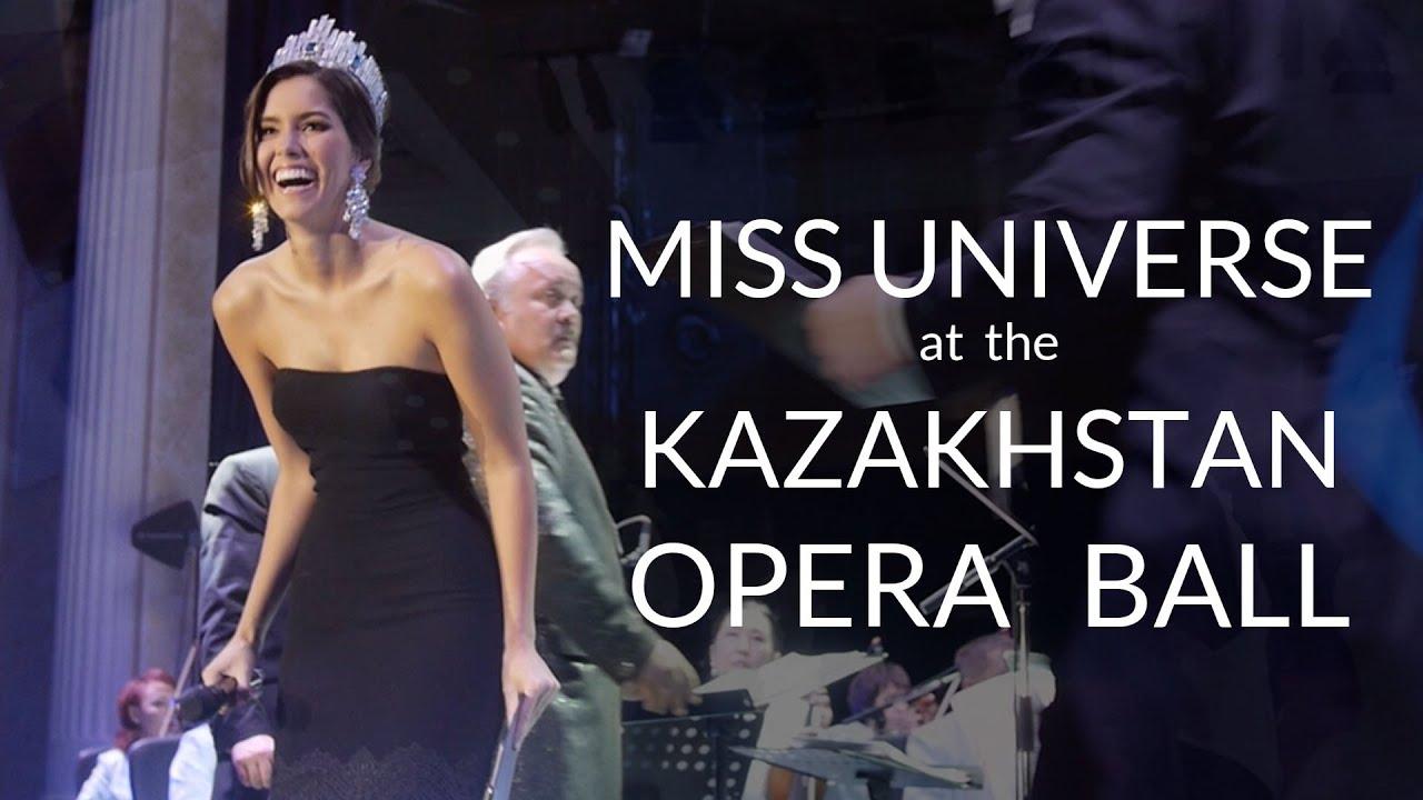 Miss Universe Paulina Vega: Miss Universe 2014 Paulina Vega In Kazakhstan