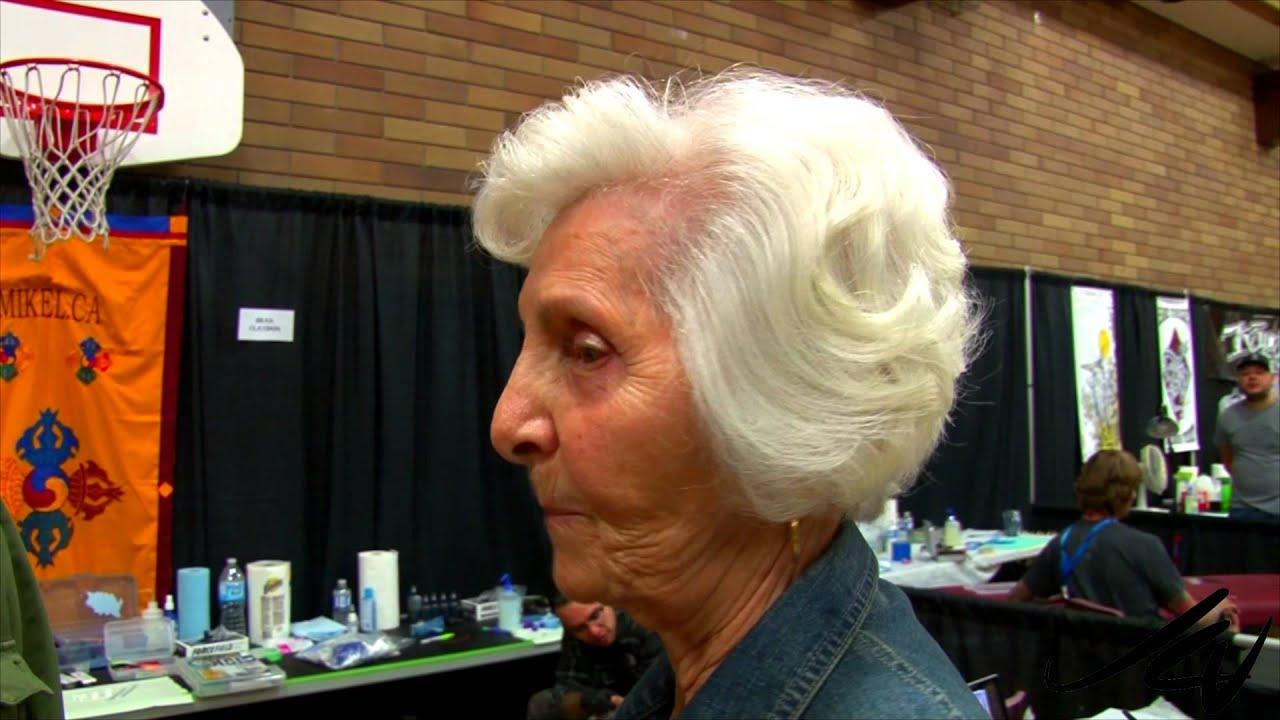 90 year old lady tells dirty joke at the 2014 okanagan for Kelowna tattoo show