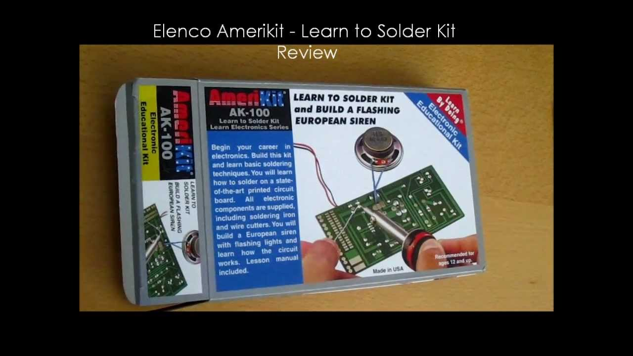 elenco amerikit learn to solder kit review youtube. Black Bedroom Furniture Sets. Home Design Ideas