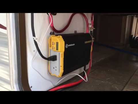 Caravan Trailer Wiring Diagram Rv Inverter Install Youtube