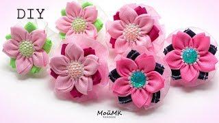 Flores de fita de gorgurão