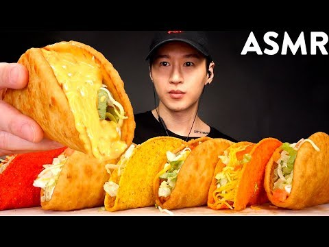 ASMR CHEESY CHALUPA & DORITOS LOCOS TACOS MUKBANG (No Talking) EATING SOUNDS | Zach Choi ASMR