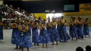 SENIOR GIRLS OF WAIPAHU HULA CLASS PERFORMIN FOR SENIOR FAREWELL 2010.
