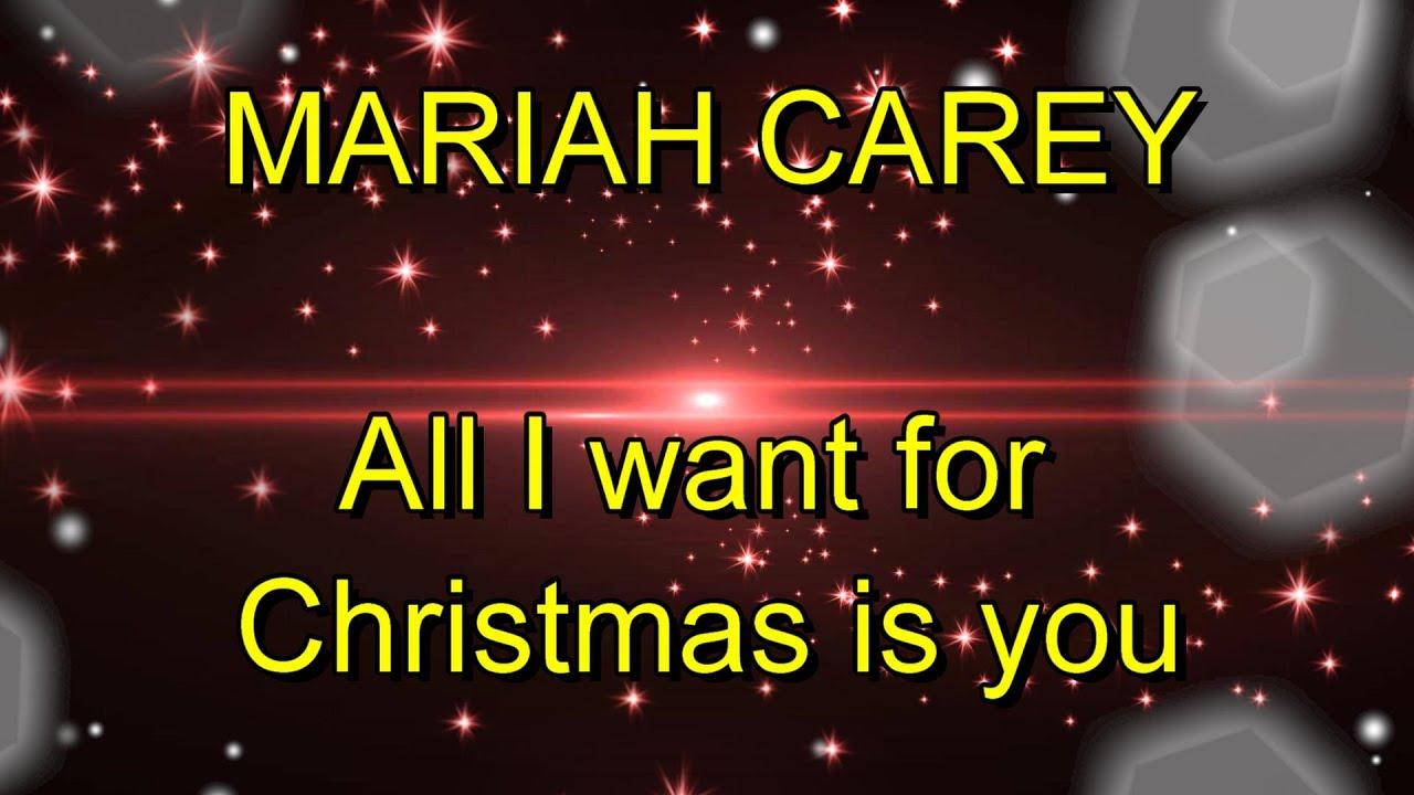 Mariah Carey All I Want For Christmas Paroles Lyrics Anglais Francais English French Youtube