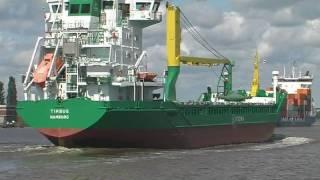 Schiffe überholen im Nord-Ostsee-Kanal