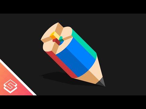 Inkscape Tutorial: Vector Colored Pencil Graphic