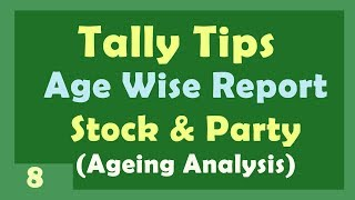 Age wise Report (Stock and Party) | Ageing Analysis Report in Tally ERP 9