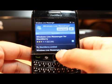Windows Live Messenger Install To Blackberry Bold 9780
