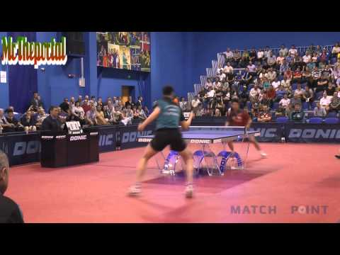 Table Tennis ECL 2014 FINAL - Dimitrij Ovtcharov Vs  Wang Jian Jun -