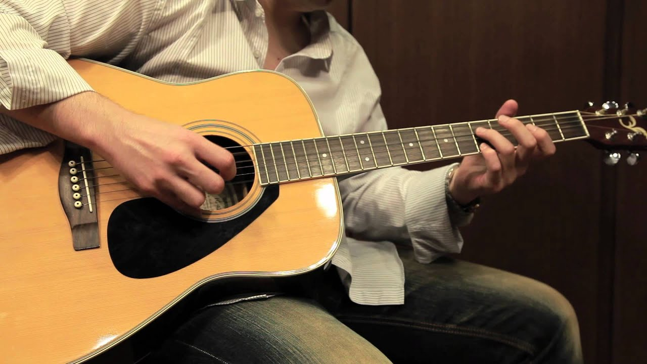 フォークギター】フォークギターはこんなふうに弾く!③ - YouTube