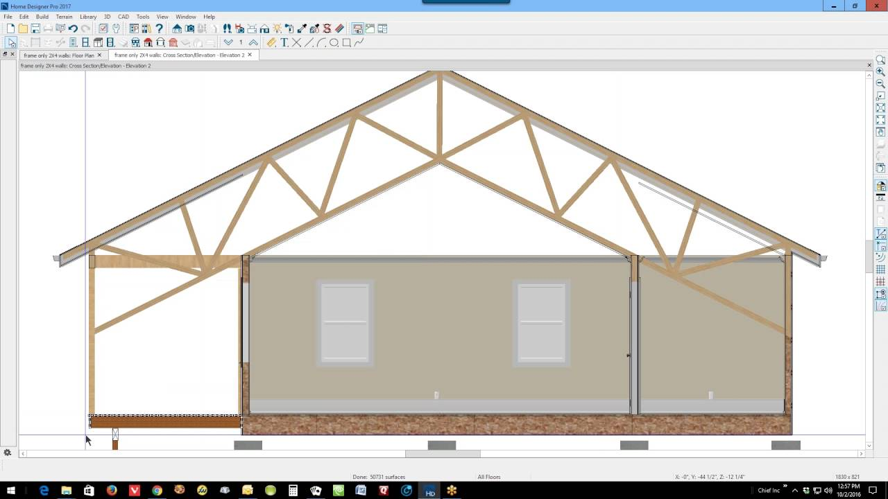 How to create a scissor truss in any version of home for Scissor truss design