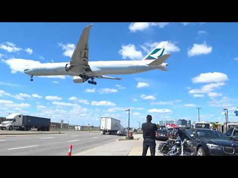 Watching Landing Of Planes (Video # 2) From Airport Road Mississauga Canada