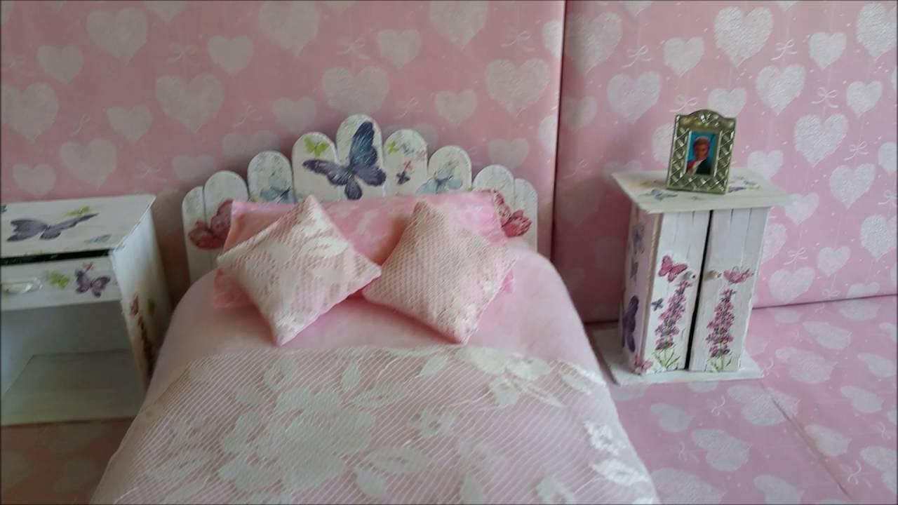 barbie bedroom with DIY doll\'s furniture ห้องนอนบารบี้และลูกๆ ...
