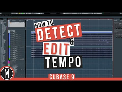 How to DETECT & EDIT TEMPO in CUBASE 9