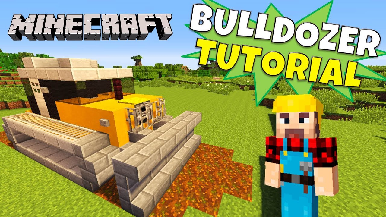 Minecraft bulldozer tutorial caterpillar bulldozer for Casa moderna rey zerch